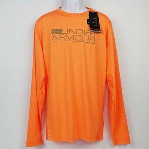 Under Armour Long Sleeve Pullover Tee Orange  NWT